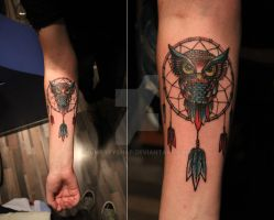 Dreamcatcher owl by qwertyShap
