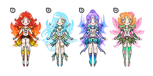 Sailor Elements Batch Adoptables CLOSED by YukiMiyasawa