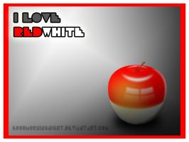 Red-White Apple by goodmorningnight