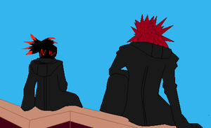 Axel And Arvenx Sitting On Top Of Clockwork Tower by ShadowFireDcon643
