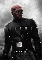 Red Skull Poster by SkinnyGlasses