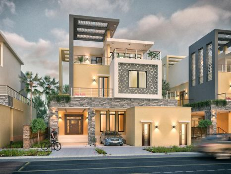 Private Villa Facades Design - KSA -2 by M-Salman