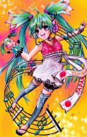 cheerful Japan hatsune miku by marvioxious89