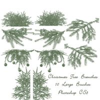 Christmas Tree Branch Brushes by imthinkingoutloud