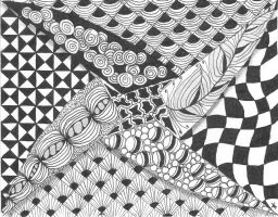 Zentangle postcard 11 by alien-sunset