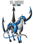 Fakemon: 148 - Legendary weapon - Trident by MTC-Studio