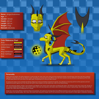 [Ref] Amiga the dragoness by SvenneTheBlockhead