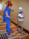 Akuma and Elena from Street Fighter by jpop52