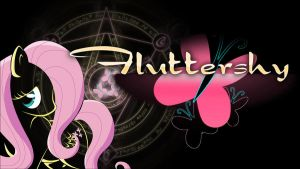 Fluttershy Wallpaper 1600 x 900 by felinefighter