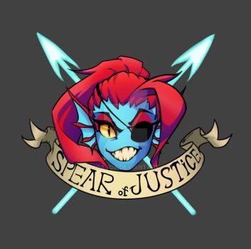Undyne : SPEAR of JUSTICE by mcjoajoa