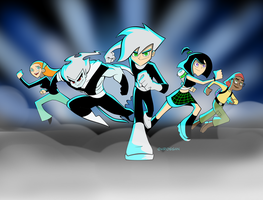 Danny Phantom Coloring-2 by StarryWind