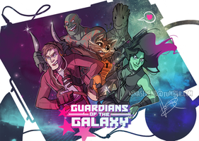 Guardians of the Galaxy by Nina-Serena