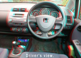 Drivers View in Honda Jazz by bjman