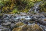 Sweet Creek Waterfalls 5 - HDR by Tegatana