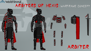 Warframe Arbiters of Hexis Warframe Concept by antoineflemming