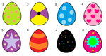 :Adoptables: Easter Eggs [OPEN] by roxan1930