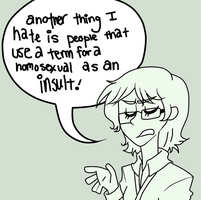 LO: Gay Is NOT An Insult by Nyan-Cow