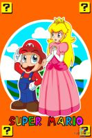 Mario and Peach by DiscoSaeba