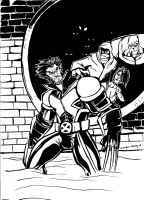 INKIN:WOLVERINE IN THE SEWERS by Sabrerine911