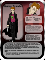 Thomas Deandro: Character Sheet Updated by furry-jackal