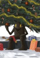 Christmas Treefolk by FlammablePerson