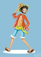 Luffy Print by BrookiexMonster