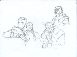 Marines after a mission sketch by JosephKing