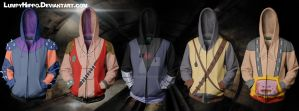 TMNT Villain Hoodies by lumpyhippo