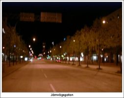 Jarnvagsgatan by firelight