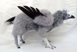 Posable Grey Hippogryph Doll! by Echinoderma