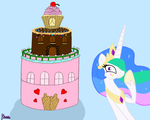 Princess Celestia's Castle of Cake by Elana-Louise