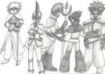 The 5 guards by xRaggsokkenx