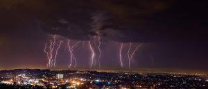Storm over Durban by carlosthe