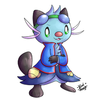 TailsLuigi the Dewott [Raffle Price 2/10] by KiwiBeagle