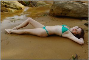 Katty - swimsuit on sand 1 by wildplaces