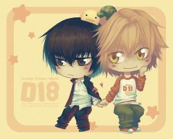 Wallpaper: Chibi D18 by Celsa