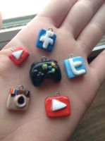 Clay charms by peacedragon24