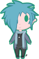 Chibi Human Commission for turtle by Zaivinx