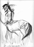 centaur by aryundomiel