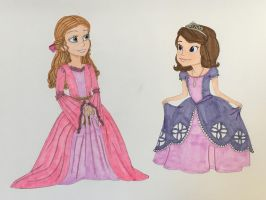 Princess Sofia meets Princess Juliette by madiquin185