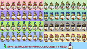 Clown Copter Koopalings Idle [Sprite Sheet] by Ryanfrogger