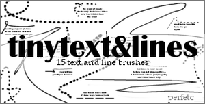 """TinyText + Lines"" Brushes by perfetc"
