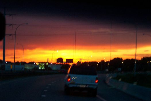 Sunset on the Road by rocker6661313