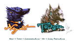 Badge - Night and Topaze by Pample