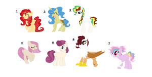So many curls (adoptables) by SleepyDoodles