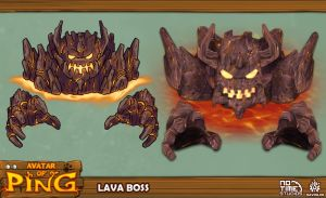 Lava Boss - Avatar Of Ping by davislim
