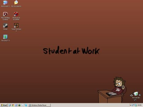 Student at Work by nissa-123