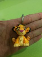 Simba Polymer Clay Keychain by anapeig