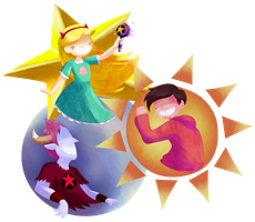 The Star, Sun and Moon by Eleanorose123