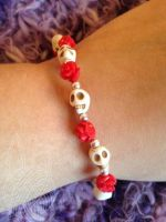 Day Of The Dead Small Red White - for sale on Etsy by theyarnbunny